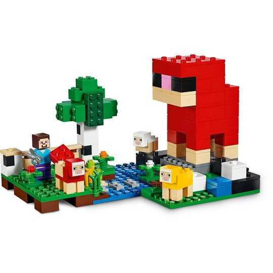 LEGO Minecraft The Wool Farm 21153 Building Set with Toy Sheep and Steve Minifigure 260pc image number null