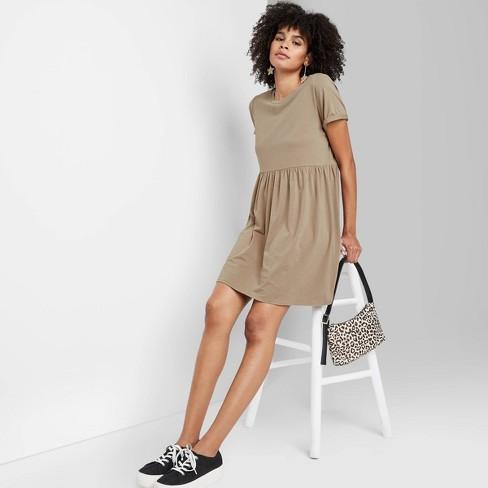 Women's Short Sleeve Knit Babydoll Dress - Wild Fable™ (Regular & Plus) - image 1 of 3