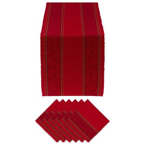 Holly Stripe Jacquard Table Set - Design Imports - image 1 of 4