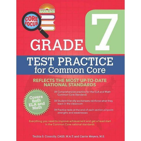 Barron's Core Focus Grade 7: Test Practice for Common Core - by Techla  Connolly & Carrie Meyers