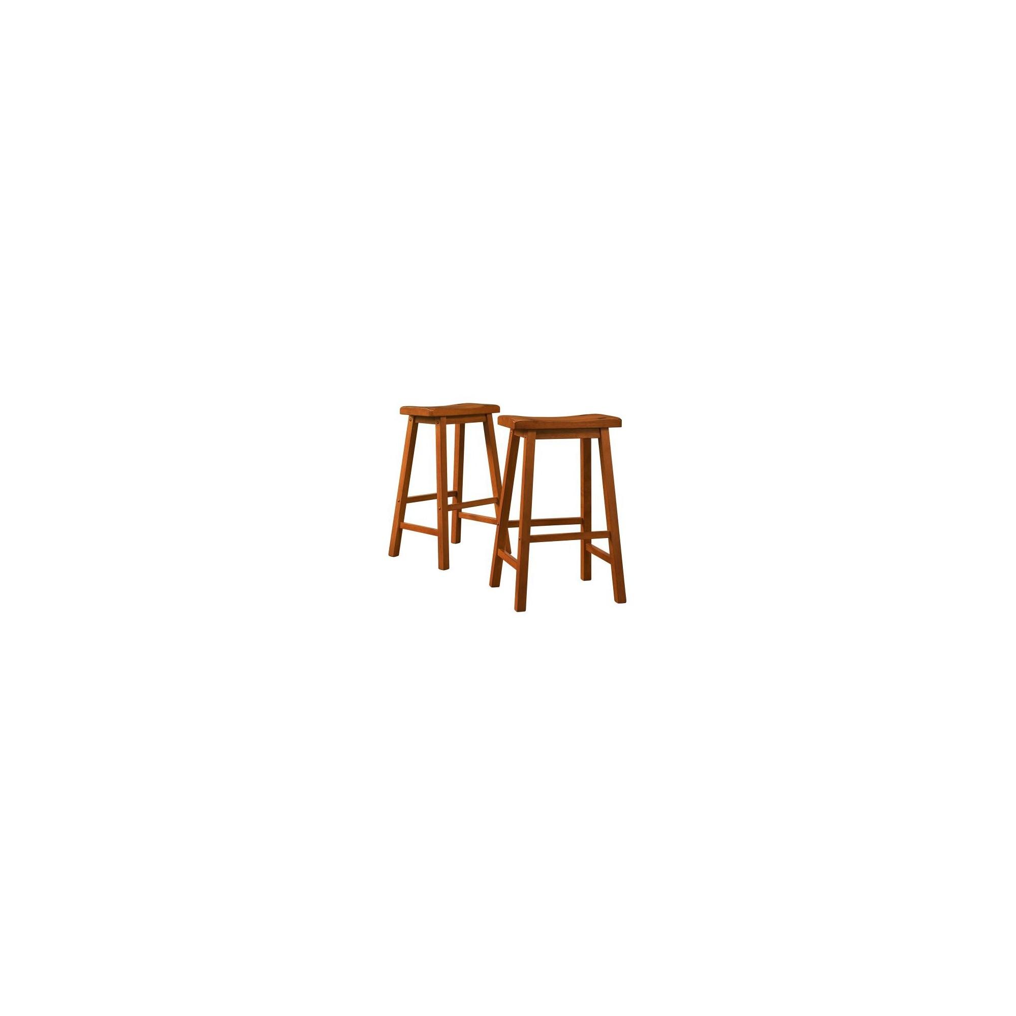 'Scoop 29'' Barstools - Oak (Set of 2), Brown'