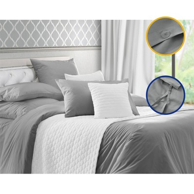 400 Thread Count Sateen Weave 3 Piece Bedding Set, 100% Cotton Duvet Cover Set - California Design Den