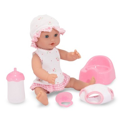 "Melissa & Doug Mine to Love Annie 12"" Drink and Wet Baby Doll"