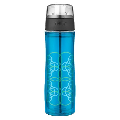 Thermos Double Wall Water Bottle - Blue Circles (18oz) - image 1 of 1