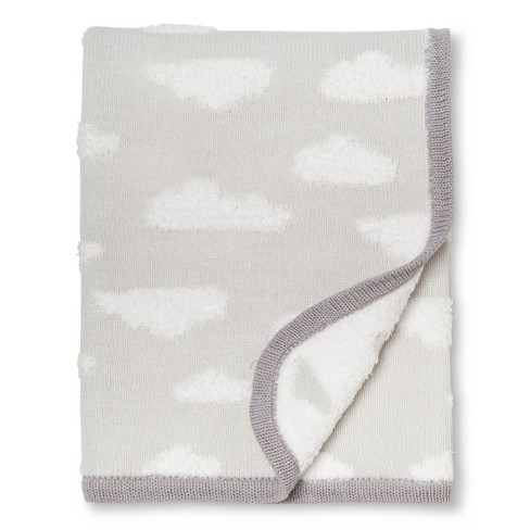 Sweater Knit Baby Blanket Clouds Cloud Island Gray Target