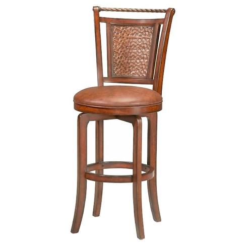 "Norwood Swivel 30.5"" Barstool Wood/Brown - Hillsdale Furniture - image 1 of 1"