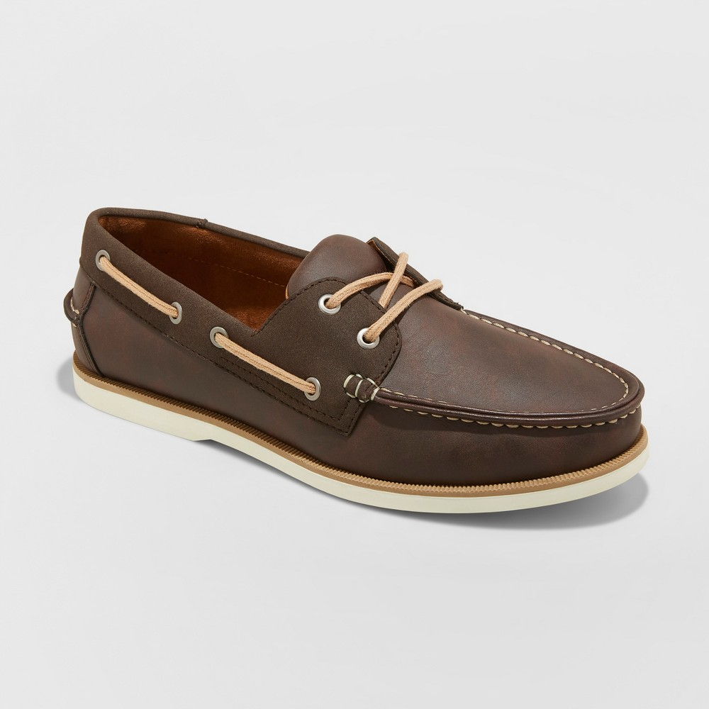 Men's Rice Boat Shoe - Goodfellow & Co Brown 9.5
