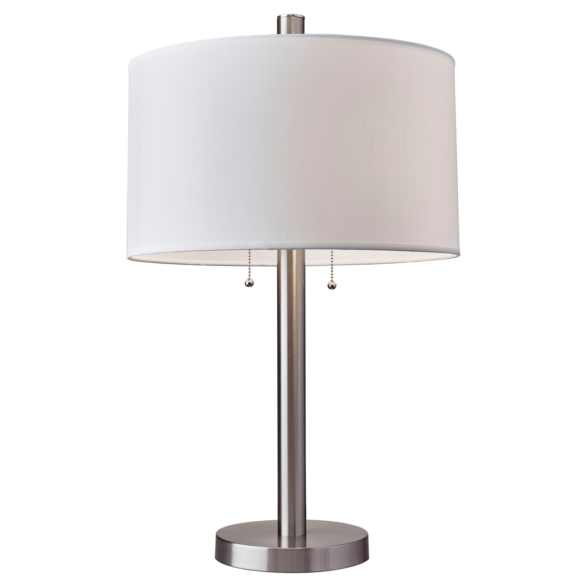 Boulevard Table Lamp - Satin Steel (Lamp Only)