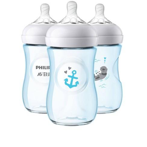 Philips Avent Natural Baby Bottle Blue - Otter/Anchor - 9oz - 3pk - image 1 of 4