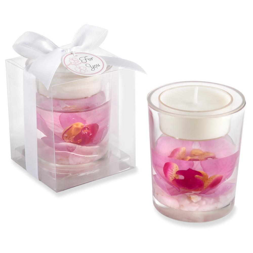 Image of 12ct Elegant Orchid Tealight Holder, Pink