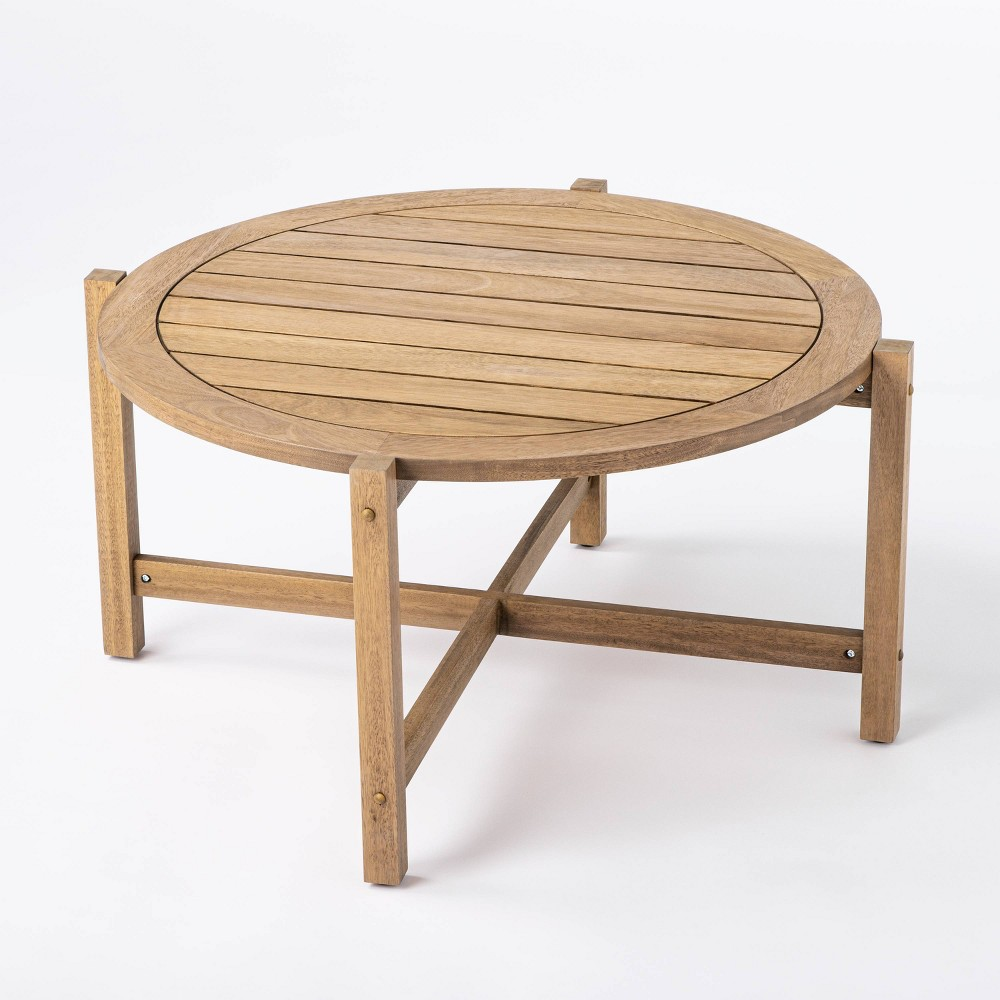 Bluffdale Wood Patio Coffee Table Threshold 8482 Designed With Studio Mcgee