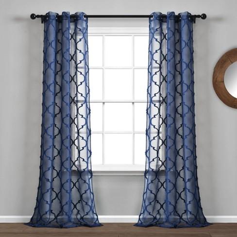 Grommet Top Sheer Window Curtain Panels