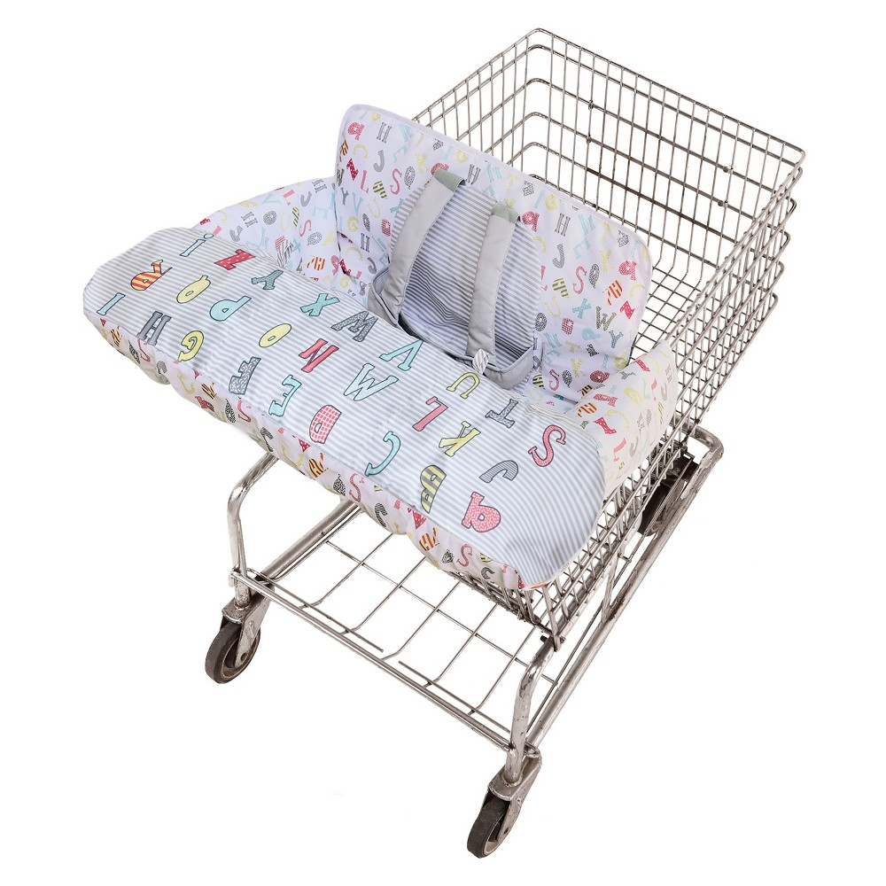 Go by Goldbug Shopping Cart Cover Novelty Abc, Multi-Colored We combined front-to-back germ protection with cuteness and comfort to create this versatile cover. Our wrap-around design includes a padded, adjustable safety strap, padded leg holes and toy loops for baby's favorite toys. It's machine washable, and folds into an attached tote for easy travel and storage. Color: Multi-Colored.