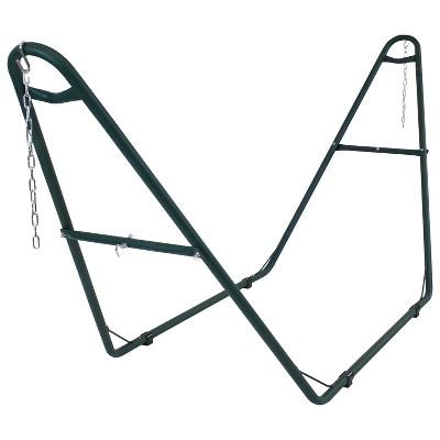 Steel Multi-Use Hammock Stand - Green - Sunnydaze Decor