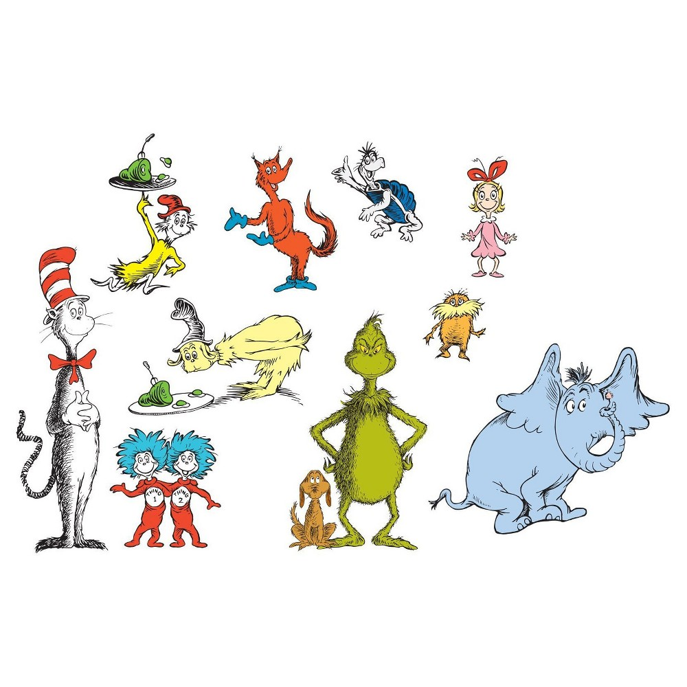 Image of Dr. Seuss Small Wall Decals