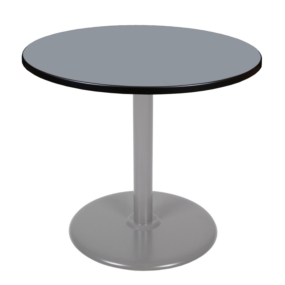 36 Via Round Platter Base Table Gray - Regency