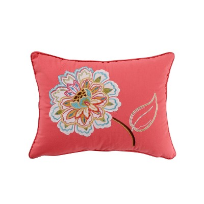 Sophia Embroidered Flower Decorative Pillow - Levtex Home