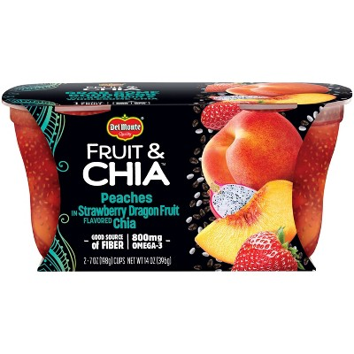 Delmonte Strawberry Dragonfruit Chia Peaches - 14oz