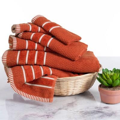 6pc Combed Cotton Bath Towels Sets Lava - Yorkshire Home