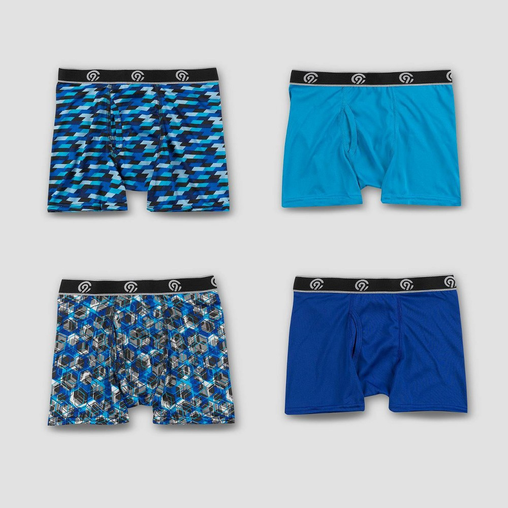 Image of Boys' 4pk Lightweight Boxer Briefs - C9 Champion L, Boy's, Size: Large, MultiColored