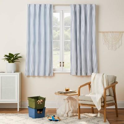 "63"" Blackout Irregular Mini Stripe Panel Blue - Pillowfort™"