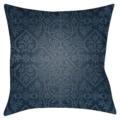 Cobalt Marimbondo Throw Pillow 16 x16  - Surya