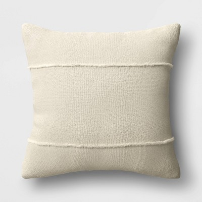 Textured Solid Square Throw Pillow Neutral - Threshold™