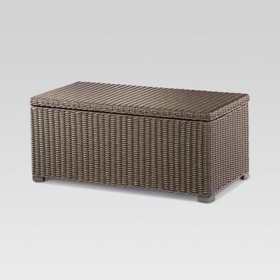 Heatherstone Wicker Patio Storage Trunk Coffee Table - Threshold™