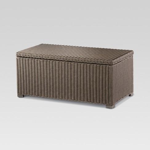 Heatherstone Wicker Patio Storage Trunk Coffee Table - Threshold™ - Heatherstone Wicker Patio Storage Trunk Coffee Table - Threshold
