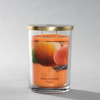 Glass Jar Vanilla Pumpkin Candle - Home Scents