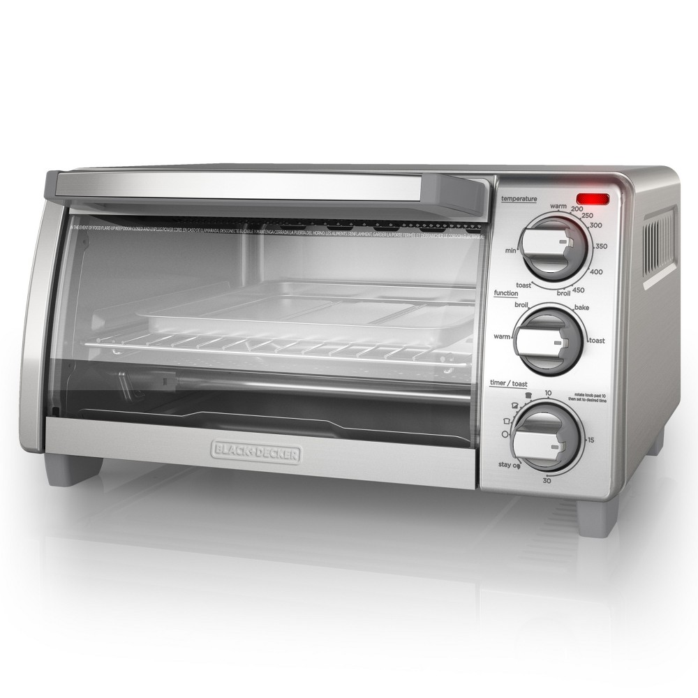 Image of BLACK+DECKER 4 Slice Natural Convection Toaster Oven - Stainless Steel TO1745SSG