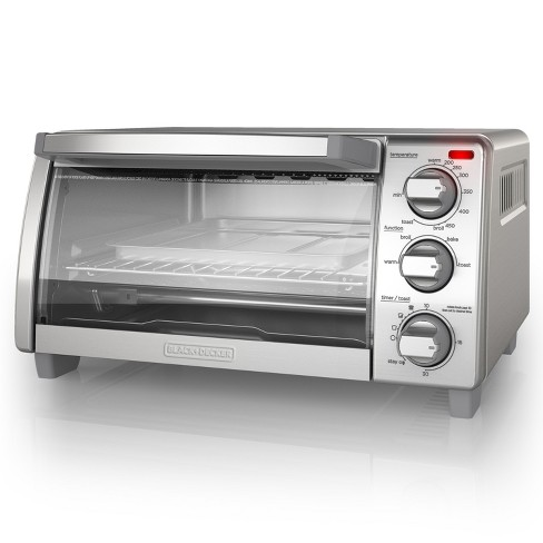 Black Decker 4 Slice Natural Convection Toaster Oven
