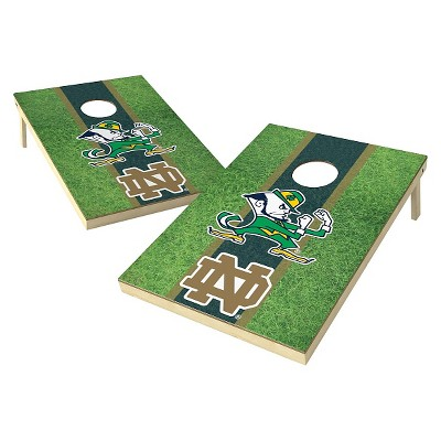 Notre Dame Fighting Irish Wild Sports 2' x 3' Field Design Tailgate Toss Platinum Cornhole Set