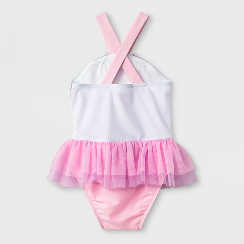 6fdad01b17ae2 Toddler Girls' One Piece Swimsuit With Bow - Cat & Jack™ Pink : Target