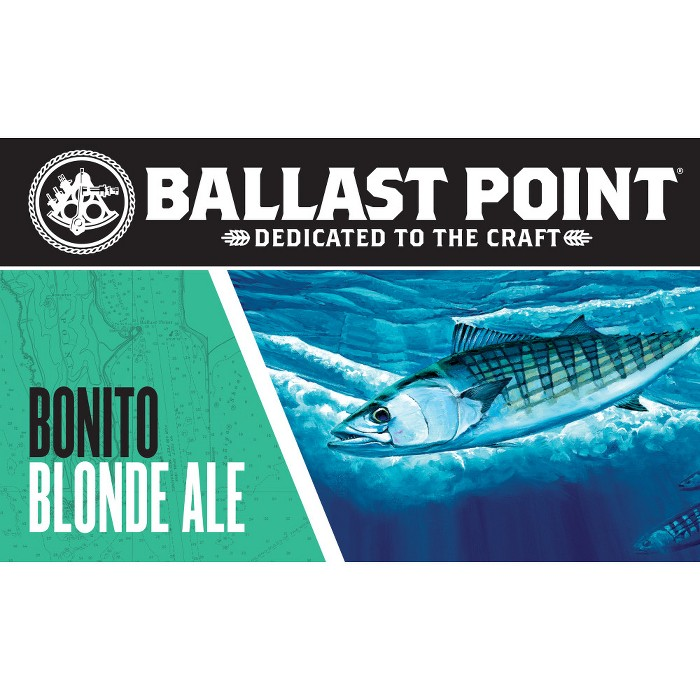 Ballast Point Bonito Blond Ale - 6pk/12 fl oz Cans - image 1 of 3