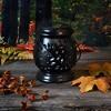 Solar Powered Ceramic LED Lantern Black - image 4 of 4