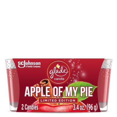 Glade Candle Apple Of My Pie - 2pk/3.4oz