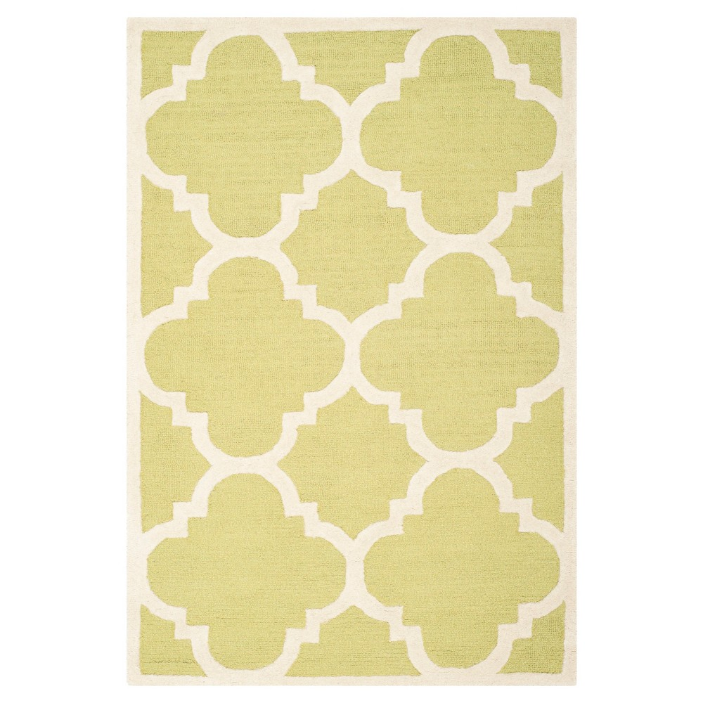 Landon Texture Wool Rug - Green / Ivory (3' X 5') - Safavieh, Green/Ivory