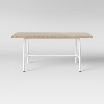 Candela Plank Metal & Wood Dining Table White - Project 62™
