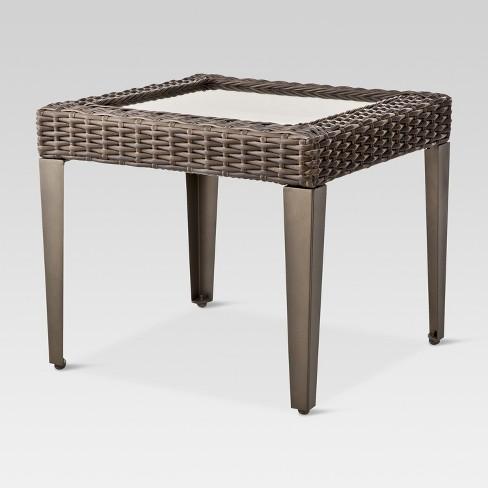 ca32d102e57cb Belvedere Wicker Patio Accent Table - Threshold™