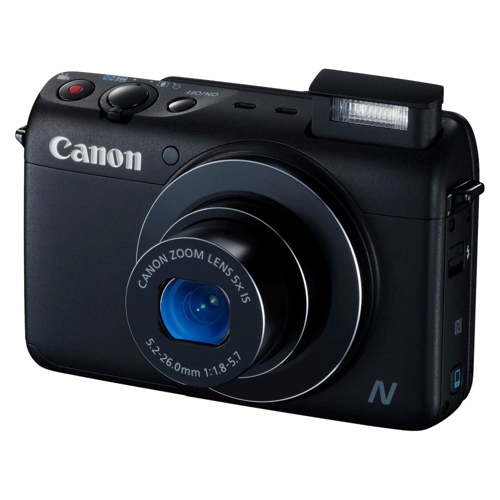 Canon PowerShot N100 12.1MP Digital Camera with 5X Optical Zoom - Black