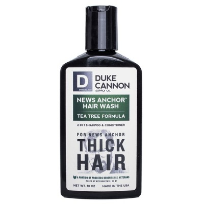 Duke Cannon News Anchor 2-in-1 Hair Wash Tea Tree Formula - 10oz