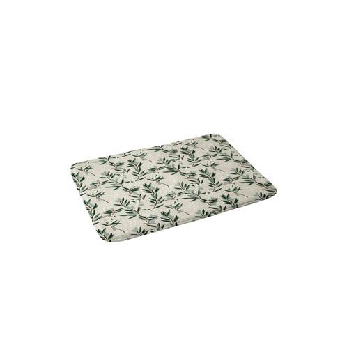 24 x 36 olive bloom bath rug green deny designs
