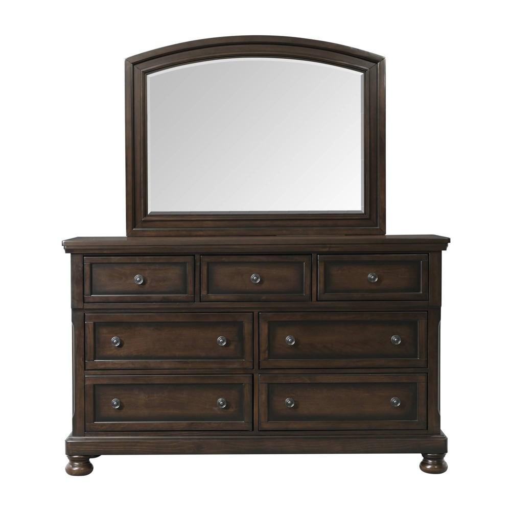 Kingsley Dresser & Mirror Walnut - Picket House Furnishings