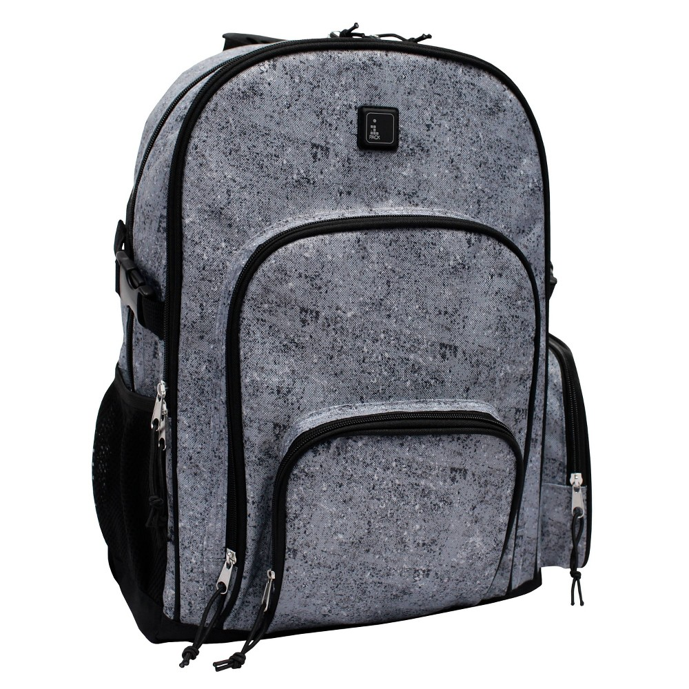 "Image of ""iPACK 17.5"""" Texture Print Backpack - Gray, Size: Large"""