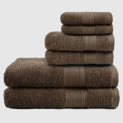 6pc Air Rich Innovative Technology Washcloth Set Brown - Trident Group