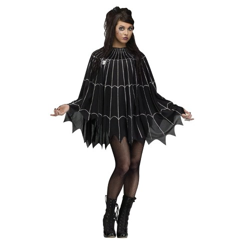 Women's Silver Spider Web Adult Poncho Costume One Size Fits Most - image 1 of 1