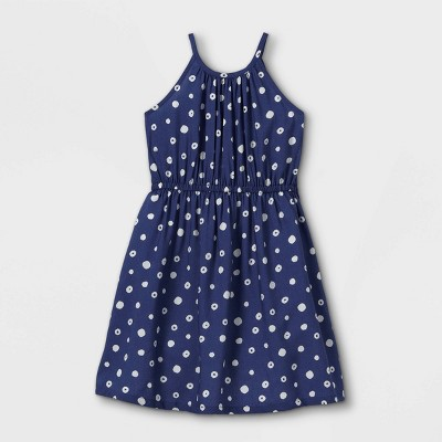 Girls' Woven Sleeveless Dress - Cat & Jack™ Navy