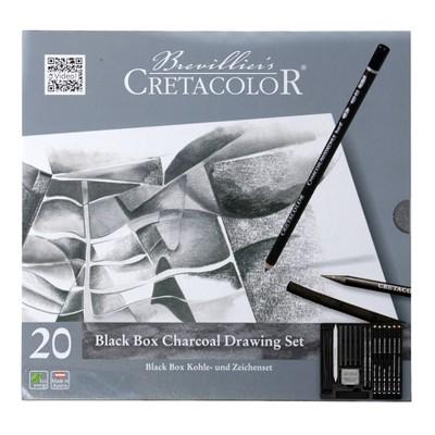 Black Box Charcoal Set 20pc - Cretacolor