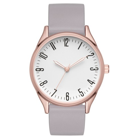 Women's Full Arabic Strap Watch - Rose Gold/Gray - image 1 of 1